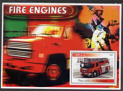 Somalia 2002 Fire Engines #3 perf s/sheet unmounted mint