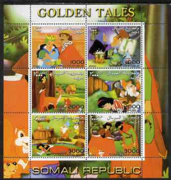 Somalia 2000 Golden Tales #1 perf sheetlet containing set of 6 values unmounted mint. Note this item is privately produced and is offered purely on its thematic appeal