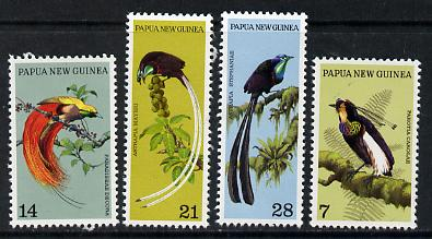 Papua New Guinea 1973 Birds of Paradise set of 4 unmounted mint, SG 237-40*