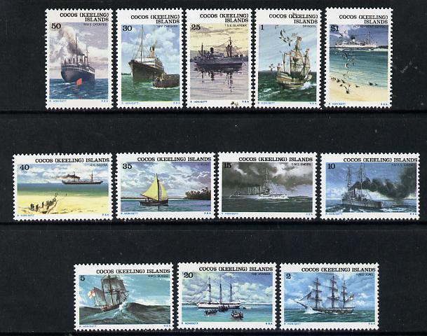 Cocos (Keeling) Islands 1976 Ships set of 12 unmounted mint, SG 20-31