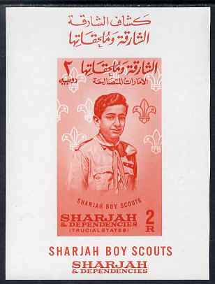 Sharjah 1964 Scout Movement 2r imperf m/sheet unmounted mint, Mi BL 9