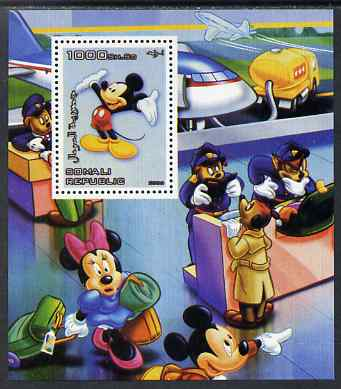 Somalia 2006 Disney - Mickey at Airport Check-in perf m/sheet unmounted mint