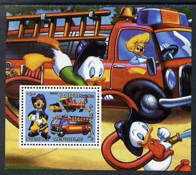 Somalia 2006 Disney - Fire Service perf m/sheet unmounted mint. Note this item is privately produced and is offered purely on its thematic appeal, stamps on disney, stamps on fire