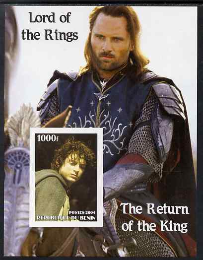 Benin 2004 Lord of the Rings - The Return of the King #2 imperf s/sheet unmounted mint