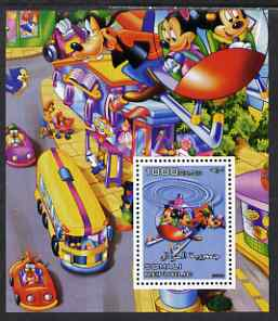 Somalia 2006 Disney - Flying in a Helicopter perf m/sheet unmounted mint