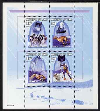 Chad 2000 Working Dogs perf set of 4 unmounted mint. Note this item is privately produced and is offered purely on its thematic appeal.