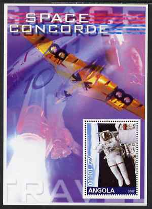 Angola 2002 Concorde & Space perf s/sheet #01 unmounted mint. Note this item is privately produced and is offered purely on its thematic appeal