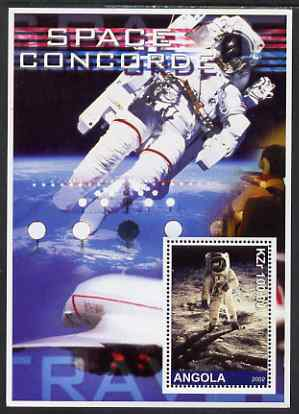 Angola 2002 Concorde & Space perf s/sheet #02 unmounted mint