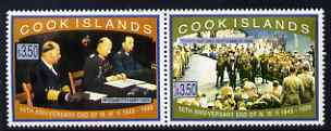 Cook Islands 1995 50th Anniversary of the End of WW2 perf set of 2 unmounted mint, SG 1379-80
