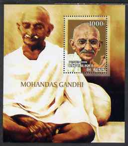 Benin 2006 Mahatma Gandhi #1 perf m/sheet unmounted mint. Note this item is privately produced and is offered purely on its thematic appeal