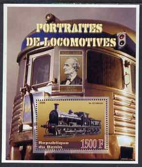 Benin 2006 Portraits of Locomotives - Maude perf m/sheet unmounted mint