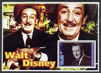 Congo 2002 Walt Disney perf s/sheet unmounted mint