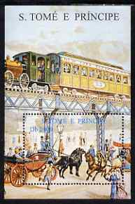 St Thomas & Prince Islands 1999 Early Railways perf m/sheet unmounted mint. Note this item is privately produced and is offered purely on its thematic appeal