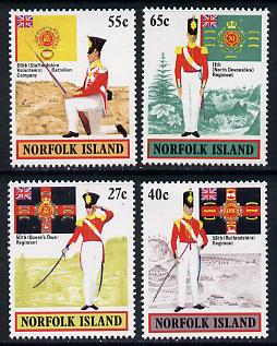 Norfolk Island 1982 Military Uniforms set of 4 unmounted mint, SG 296-99
