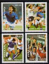 St Thomas & Prince Islands 1990 Football World Cup perf set of 4 unmounted mint. Note this item is privately produced and is offered purely on its thematic appeal