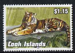Cook Islands 1992 Endangered Species - Tiger $1.15 perf unmounted mint, SG 1279