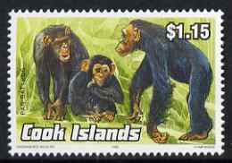 Cook Islands 1992 Endangered Species - Chimpanzee $1.15 perf unmounted mint, SG 1283