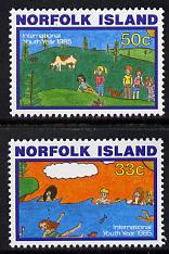 Norfolk Island 1985 Int Youth Year set of 2 unmounted mint, SG 369-70