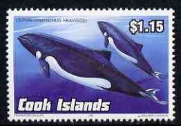Cook Islands 1992 Endangered Species - Heaviside's Dolphin $1.15 perf unmounted mint, SG 1285