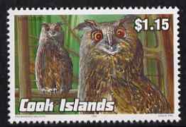Cook Islands 1992 Endangered Species - Eagle Owl $1.15 perf unmounted mint, SG 1286