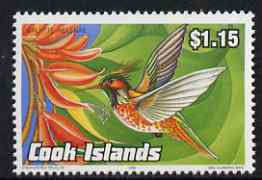 Cook Islands 1992 Endangered Species - Bee Hummingbird $1.15 perf unmounted mint, SG 1287
