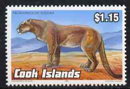 Cook Islands 1992 Endangered Species - Puma $1.15 perf unmounted mint, SG 1288