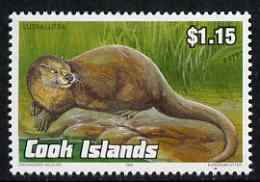 Cook Islands 1992 Endangered Species - European Otter $1.15 perf unmounted mint, SG 1289