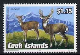 Cook Islands 1992 Endangered Species - Key Deer $1.15 perf unmounted mint, SG 1295