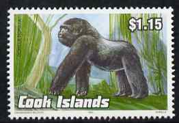 Cook Islands 1992 Endangered Species - Gorilla $1.15 perf unmounted mint, SG 1298