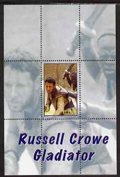 Angola 2000 Russell Crowe - Gladiator perf s/sheet #1 unmounted mint. Note this item is privately produced and is offered purely on its thematic appeal