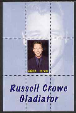Angola 2000 Russell Crowe - Gladiator perf s/sheet #3 unmounted mint. Note this item is privately produced and is offered purely on its thematic appeal