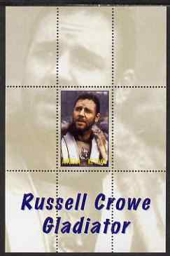 Angola 2000 Russell Crowe - Gladiator perf s/sheet #4 unmounted mint. Note this item is privately produced and is offered purely on its thematic appeal