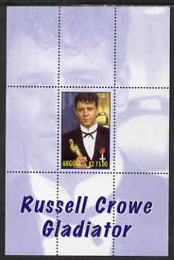 Angola 2000 Russell Crowe - Gladiator perf s/sheet #5 unmounted mint. Note this item is privately produced and is offered purely on its thematic appeal