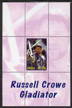 Angola 2000 Russell Crowe - Gladiator perf s/sheet #6 unmounted mint. Note this item is privately produced and is offered purely on its thematic appeal