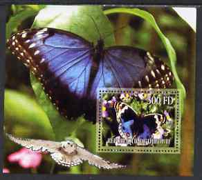 Djibouti 2006 Owl & Butterfly #1 perf m/sheet unmounted mint