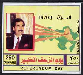 Iraq 1997 2nd Anniversary of Referendum imperf m/sheet unmounted mint, SG MS 2025