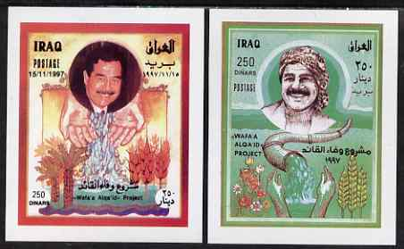 Iraq 1997 Completion of Al Qaid Water Project set of 2 imperf m/sheets unmounted mint, SG MS 2028