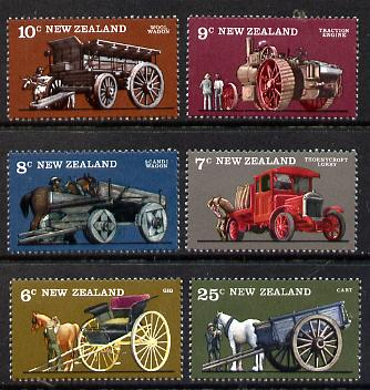 New Zealand 1976 Farm Transport set of 6 unmounted mint, SG 1115-20