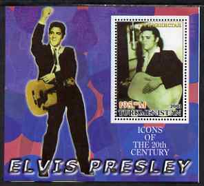 Turkmenistan 2001 Icons of the 20th Century - Elvis Presley perf s/sheet #2 unmounted mint