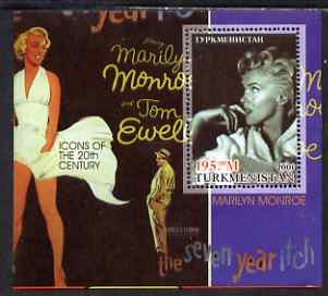 Turkmenistan 2001 Icons of the 20th Century - Marilyn Monroe perf s/sheet #1 unmounted mint