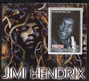 Turkmenistan 2001 Icons of the 20th Century - Jimi Hendrixperf s/sheet unmounted mint
