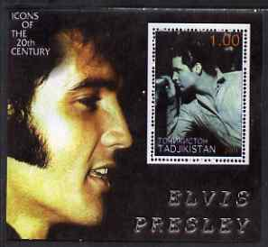 Tadjikistan 2001 Icons of the 20th Century - Elvis Presley perf s/sheet #3 unmounted mint