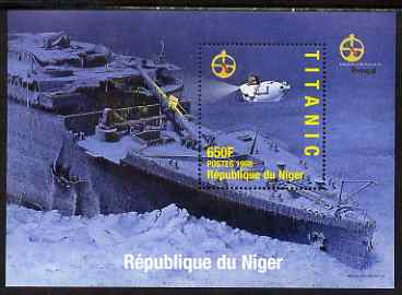 Niger Republic 1998 Titanic perf m/sheet #3 unmounted mint. Note this item is privately produced and is offered purely on its thematic appeal with Portugal '98 imprint