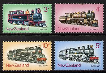New Zealand 1973 Steam Locomotives set of 4 unmounted mint, SG 1003-6*