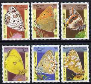 Somalia 1998 Butterflies complete perf set of 6 values, unmounted mint. Note this item is privately produced and is offered purely on its thematic appeal