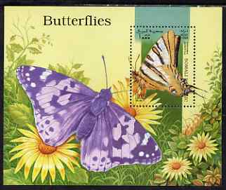 Somalia 1998 Butterflies perf miniature sheet unmounted mint. Note this item is privately produced and is offered purely on its thematic appeal