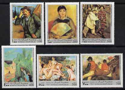 Somalia 1999 Paintings set of 6 unmounted mint. Note this item is privately produced and is offered purely on its thematic appeal (Renoir, Cezanne, Degas, Gauguin)*