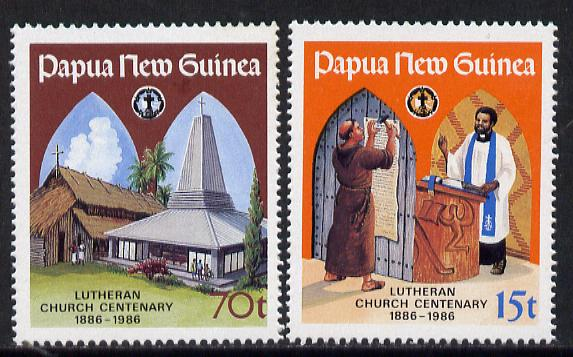 Papua New Guinea 1986 Lutheran Church set of 2 unmounted mint, SG 529-30