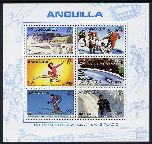 Anguilla 1980 Lake Placid Winter Olympics m/sheet (SG MS 395) unmounted mint