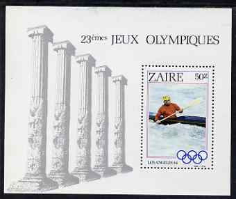 Zaire 1984 Los Angeles Olympic Games - Canoeing perf m/sheet unmounted mint SG MS 1200